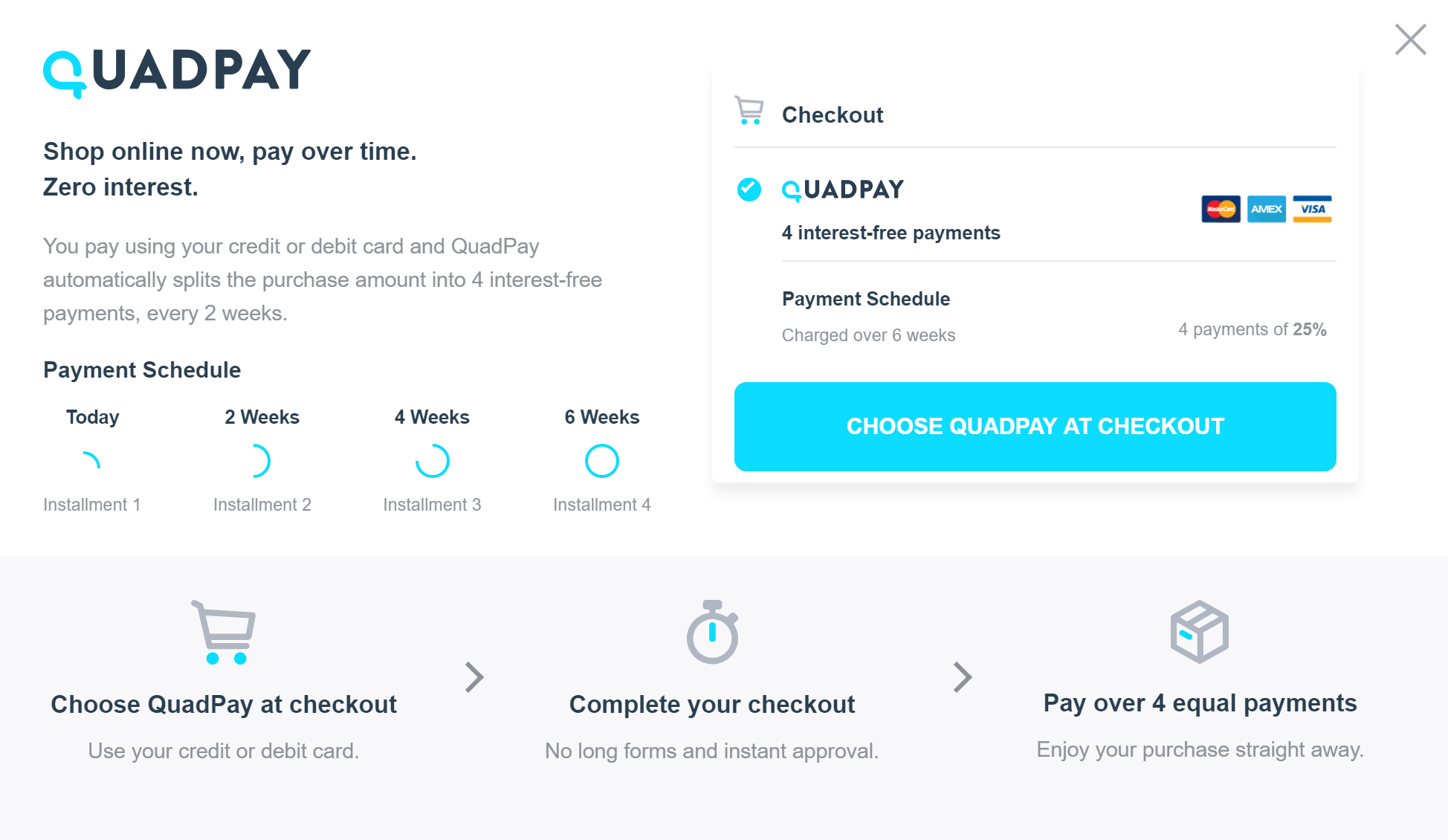 QuadPay customer service Phone Number