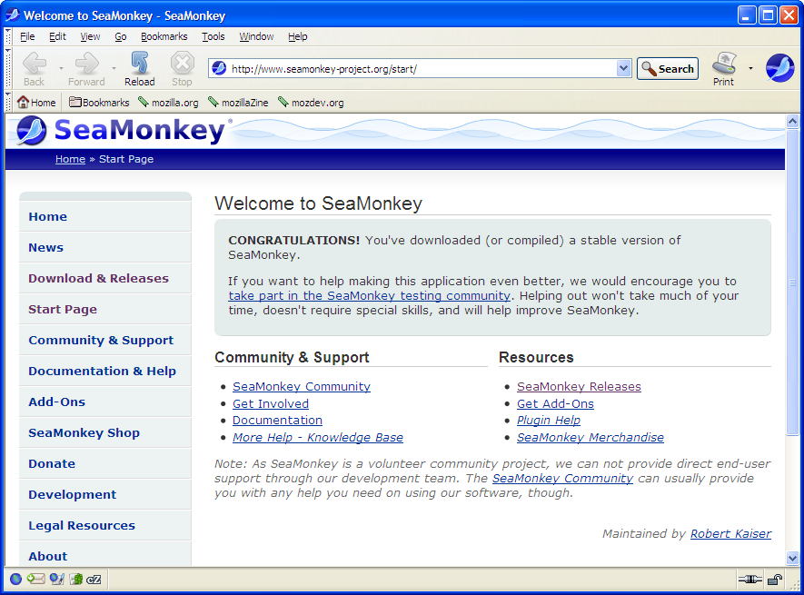 SeaMonkey-Browser customer service Phone Number