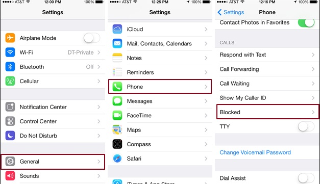 Block Phone Number on iPhone