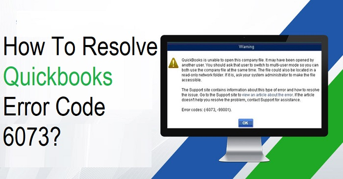 Quickbooks Error Code 6073