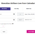 Hawaiian Airlines Low Fare Calendar